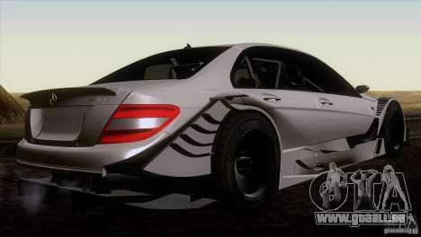 Mercedes Benz C-Class Touring 2008 pour GTA San Andreas sur la vue arrière gauche