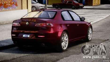 Alfa Romeo 159 Li pour GTA 4 Vue arrière de la gauche