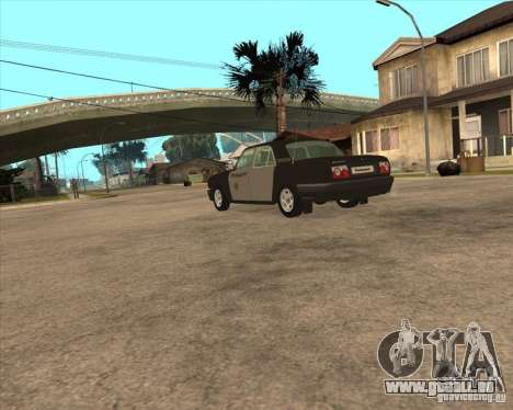 Semaine de la Police de GAZ Volga 3110 pour GTA San Andreas laissé vue