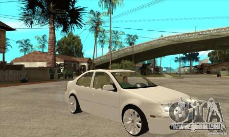 Volkswagen Bora VR6 4MOTION pour GTA San Andreas vue arrière