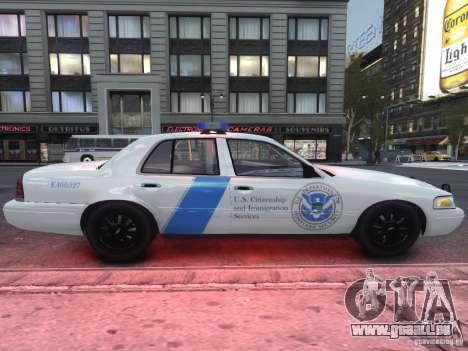 Ford Crown Victoria Homeland Security pour GTA 4 Vue arrière