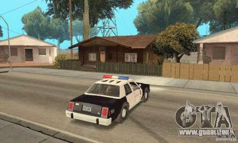 Ford LTD Crown Victoria Interceptor LAPD 1985 pour GTA San Andreas laissé vue