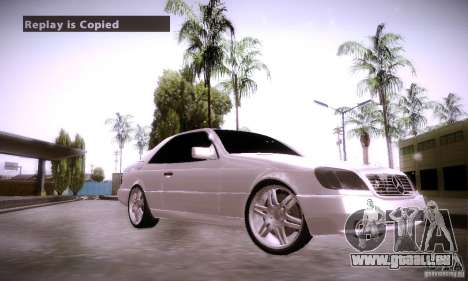Mercedes-Benz 600SEC für GTA San Andreas rechten Ansicht