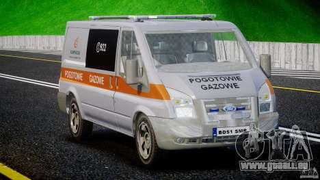 Ford Transit Usluga polski gazu [ELS] pour GTA 4 est un droit