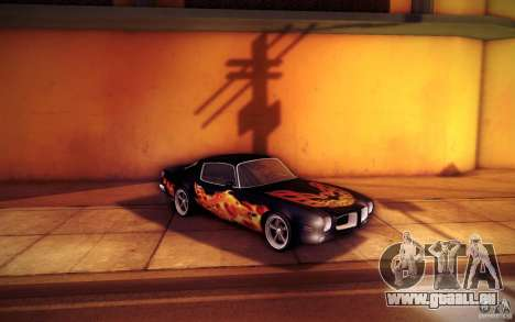 Pontiac Firebird 1970 für GTA San Andreas Unteransicht