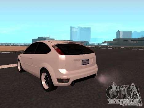 Ford Focus II pour GTA San Andreas sur la vue arrière gauche
