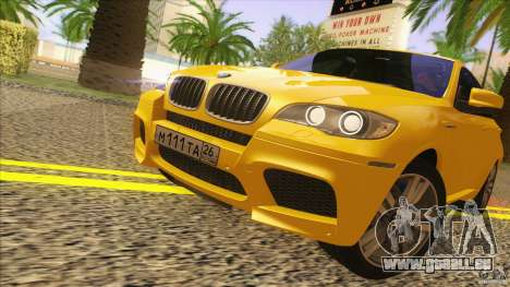 BMW X6M E71 v2 für GTA San Andreas zurück linke Ansicht