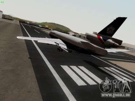 McDonell Douglas DC-10-30 British Airways für GTA San Andreas zurück linke Ansicht
