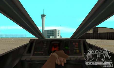 X-WING de Star Wars v1 pour GTA San Andreas vue arrière