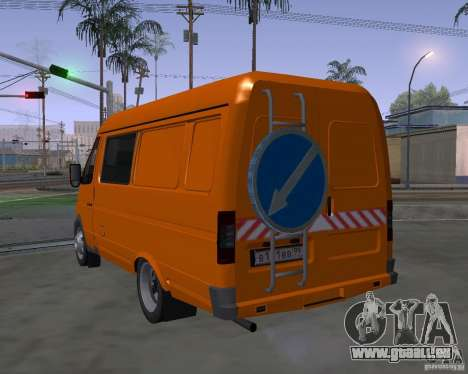 Gazelle 2705 Highway patrol für GTA San Andreas linke Ansicht