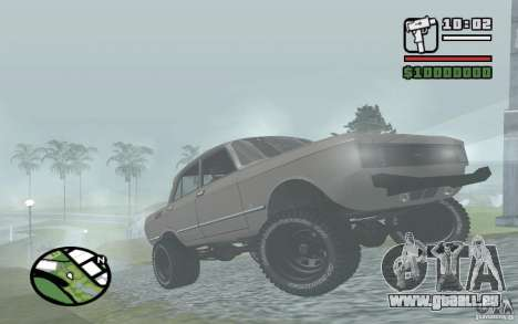 AZLK-2140 4x4 pour GTA San Andreas laissé vue