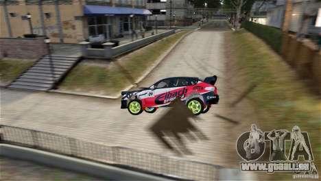 Subaru Impreza WRX STI Rallycross Eibach Springs für GTA 4 linke Ansicht