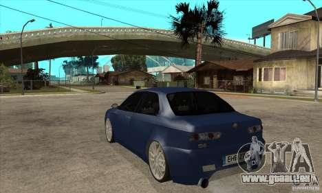 Alfa Romeo 156 Light Tune für GTA San Andreas zurück linke Ansicht