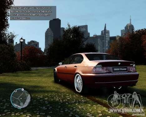 BMW 320i E46 v1.0 für GTA 4 rechte Ansicht