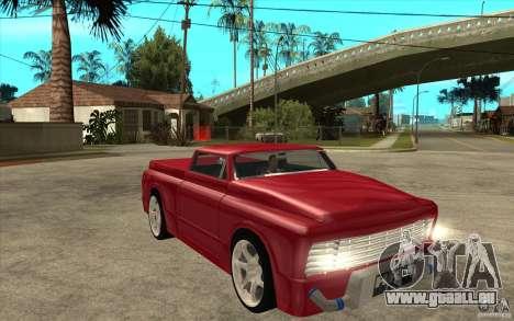 Slamvan Custom pour GTA San Andreas vue arrière