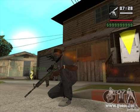 M4A1 Camo pour GTA San Andreas