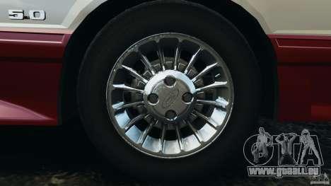 Ford Mustang GT 1993 v1.1 für GTA 4 obere Ansicht