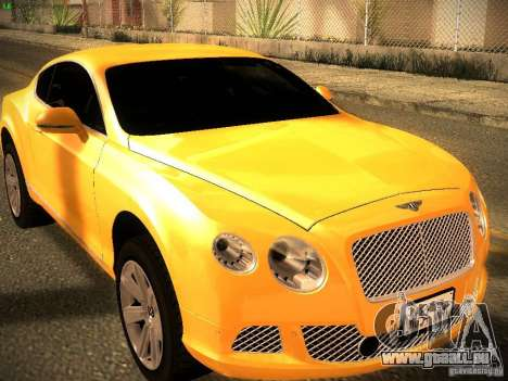 Bentley Continental GT 2011 pour GTA San Andreas vue de droite