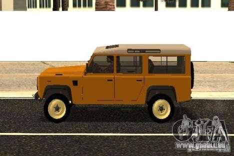 Land Rover Defender 110 pour GTA San Andreas laissé vue