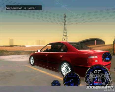 BMW E39 530d Sedan pour GTA San Andreas sur la vue arrière gauche