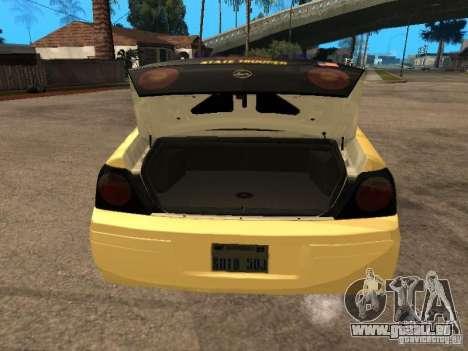 Chevrolet Impala Police 2003 pour GTA San Andreas vue arrière