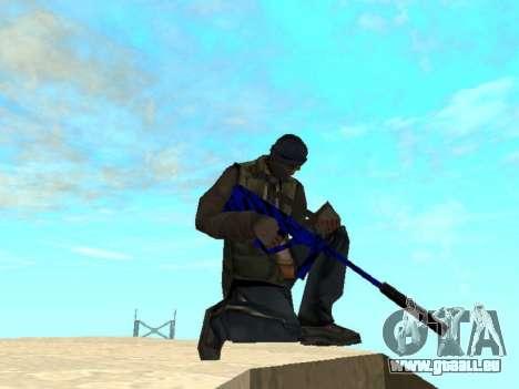 Blue and black gun pack für GTA San Andreas her Screenshot
