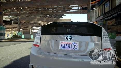 Toyota Prius III für GTA 4 rechte Ansicht