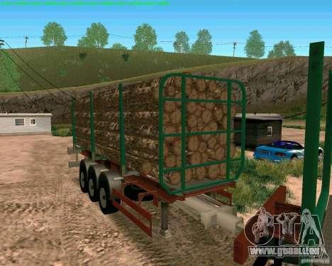 Trailer für Kamaz 65117 für GTA San Andreas zurück linke Ansicht