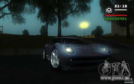 Lamborghini Miura Concept pour GTA San Andreas laissé vue