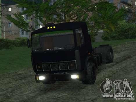 MAZ 5432 für GTA San Andreas zurück linke Ansicht