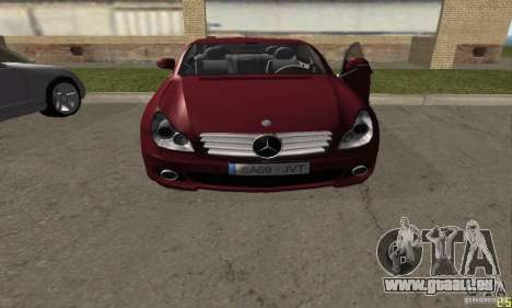 Mercedes-Benz CLS500 v2 für GTA San Andreas zurück linke Ansicht