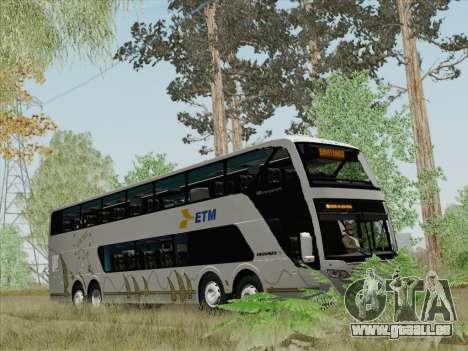 Busscar Panoramico DD 8x2 für GTA San Andreas Innen