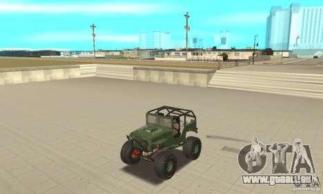 Jeep Willys Rock Crawler pour GTA San Andreas vue de droite