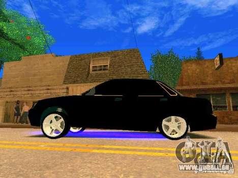 LADA 2170 Priora Gold Edition pour GTA San Andreas vue intérieure