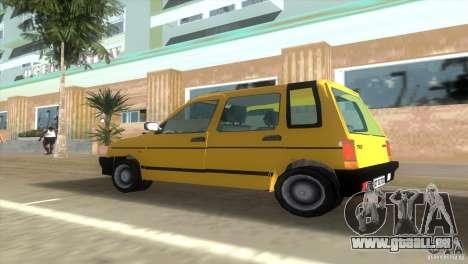 Daewoo Tico pour GTA Vice City sur la vue arrière gauche