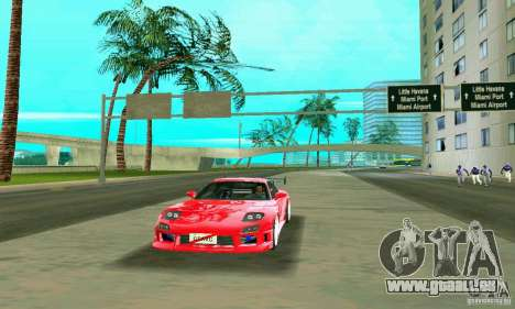 Mazda RX7 Charge-Speed pour GTA Vice City vue latérale