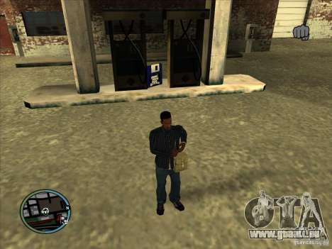 SA IV WEAPON SCROLL 2.0 für GTA San Andreas dritten Screenshot