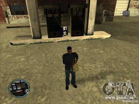 SA IV WEAPON SCROLL 2.0 pour GTA San Andreas troisième écran