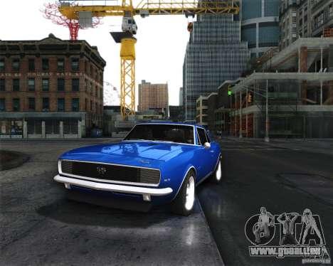 Chevrolet Camaro 1969 pour GTA San Andreas sur la vue arrière gauche
