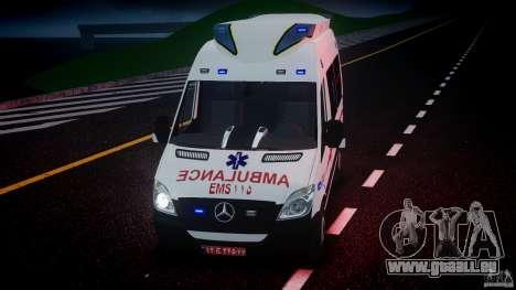 Mercedes-Benz Sprinter Iranian Ambulance [ELS] pour GTA 4 est une vue de dessous