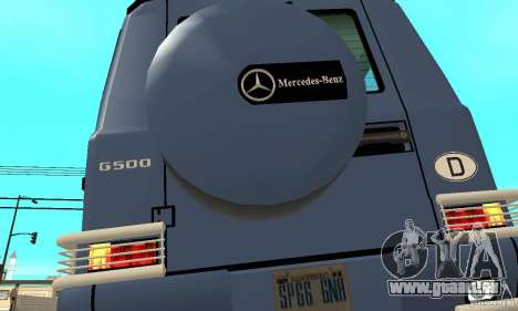 Mercedes-Benz G500 1999 Short [with kangoo v1] pour GTA San Andreas vue de côté