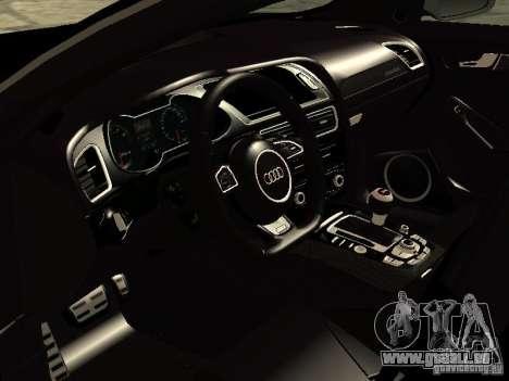 Audi RS4 Avant B8 2013 pour GTA San Andreas sur la vue arrière gauche