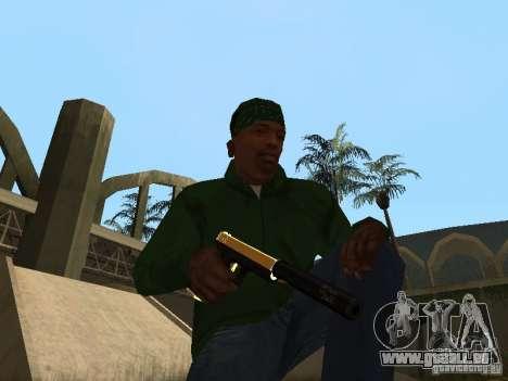 Pak Golden Waffen für GTA San Andreas fünften Screenshot