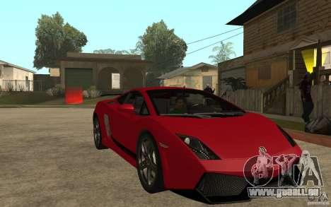 Lamborghini Gallardo LP 570 4 Superleggera für GTA San Andreas Rückansicht