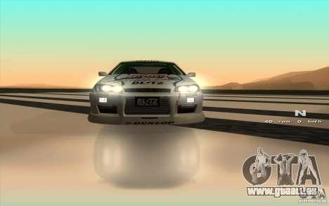 Nissan Skyline ER34 D1GP Blitz pour GTA San Andreas vue intérieure