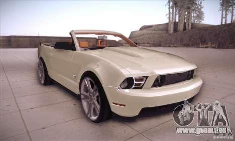 Ford Mustang 2011 Convertible pour GTA San Andreas vue arrière