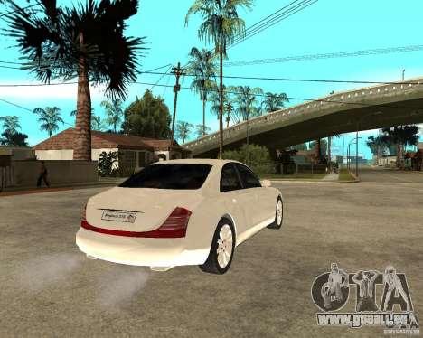 Maybach 57 S pour GTA San Andreas sur la vue arrière gauche