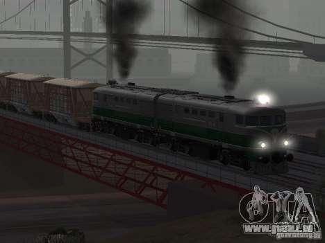 TE2-414 pour GTA San Andreas vue arrière
