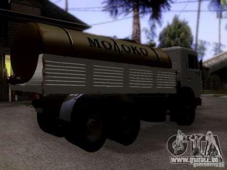 KAMAZ 53212 Milch tanker für GTA San Andreas linke Ansicht