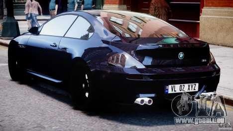 BMW M6 Orange-Black Bullet pour GTA 4 est un droit